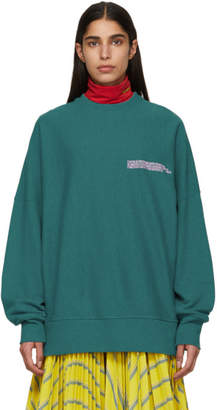 Calvin Klein Green Oversized Sweatshirt
