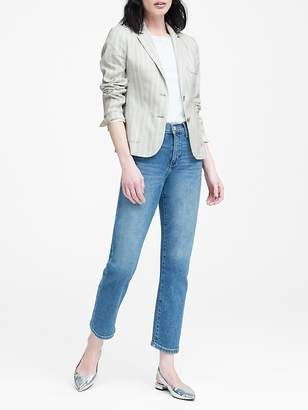 Banana Republic Petite Linen-Cotton Hacking Jacket