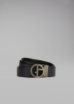 Giorgio Armani Micro Pattern Leather Belt