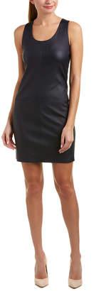 Helmut Lang Matte Leather Shift Dress