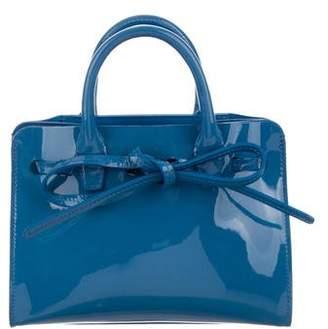 Mansur Gavriel Patent Leather Mini Sun Handbag
