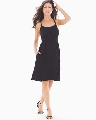 Bliss Knit Twist Waist Dress Black