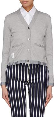 Thom Browne Button sheer mesh back cardigan