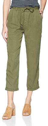 Three Dots Women's All Weather Twill Pleated 3/4 Loose Pant