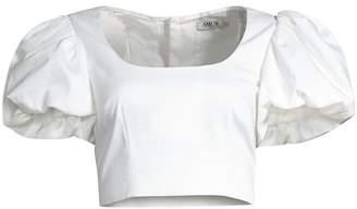 c59f40f99dd AMUR Jacey Crop Short Puff-Sleeve Top