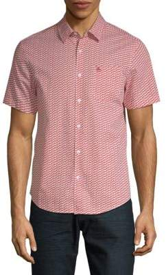 Original Penguin Mini Pepper-Print Button-Down Shirt