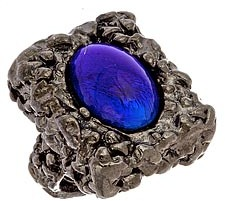 Yochi Cobalt Rock Cocktail Ring