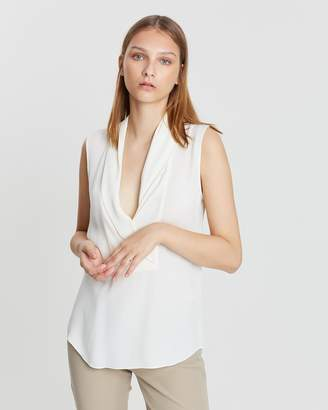 Theory Shawl Collar Shell Top