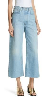 Rag & Bone Haru Wide Leg High Waist Nonstretch Cotton Jeans