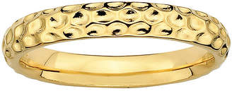 JCPenney FINE JEWELRY Personally Stackable 18K Yellow Gold Over Sterling Silver 3.5mm Pebbled Ring