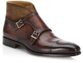 Saks Fifth Avenue COLLECTION BY MAGNANNI Mixed Media Leather Dress Boots