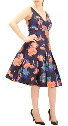 Aidan Mattox Sleeveless Printed Dress