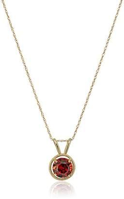 Swarovski 10K Gold Dainty Elements Birthstone Pendant with Gold Filled Chain
