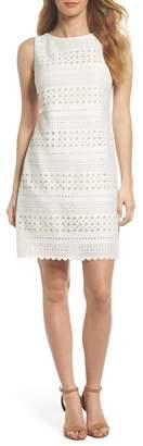 Eliza J Laser Cut Sheath Dress