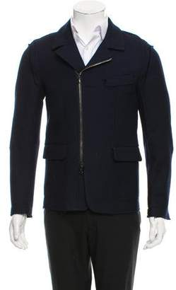 Wooyoungmi Raw-Edge-Trimmed Wool Jacket