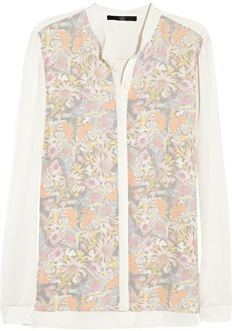 Tibi Printed silk shirt