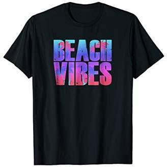 Beach Vibes Shirt Women Men Classic Vintage Retro Tee Gift
