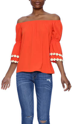 VaVa Orange Blouse $65 thestylecure.com