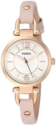 Fossil Women's 'Georgia' Quartz Stainless Steel and Leather Casual Watch