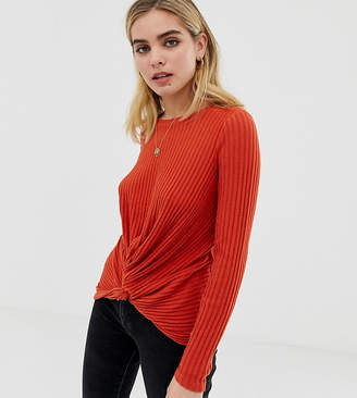 New Look twist front top in orange