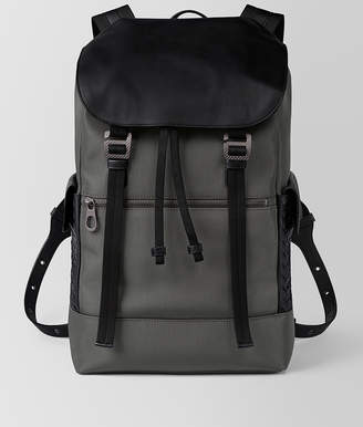 Bottega Veneta LIGHT GREY HI-TECH CANVAS SASSOLUNGO BACKPACK