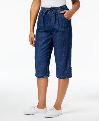 Karen Scott Kiera Cotton Skimmer Shorts, Only at Macy's $39.50 thestylecure.com
