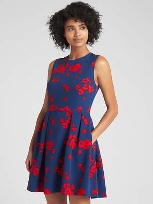 Gap Fit and Flare Floral Print Circle Dress