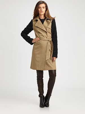 Gryphon Candy Dots Embellished Trenchcoat