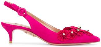 Aquazzura Exotic slingback pumps