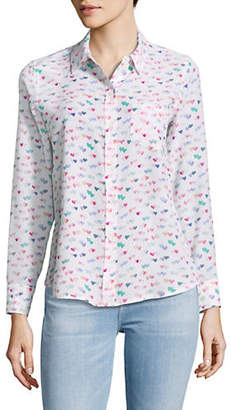 Rails Kate Watercolour Hearts Silk Shirt