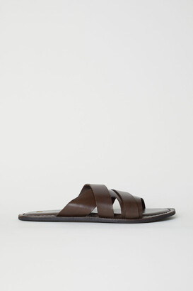 H&M Leather Mules - Brown