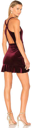 Amanda Uprichard Marsala Velvet Dress