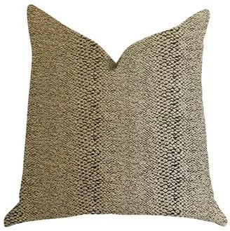 Plutus Brands Plutus Shimmer in Gold Metallic Luxury Throw Pillow