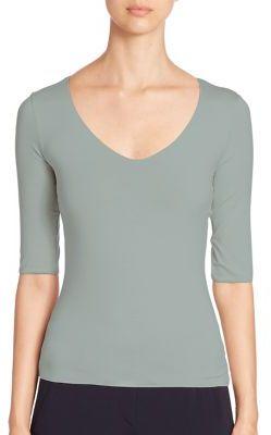 Armani Collezioni Solid Knit Top $345 thestylecure.com