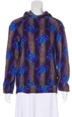 Christopher Kane Hooded Floral Sweatshirt