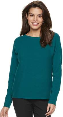 Apt. 9 Women's Ribbed Crewneck Dolman Sweater