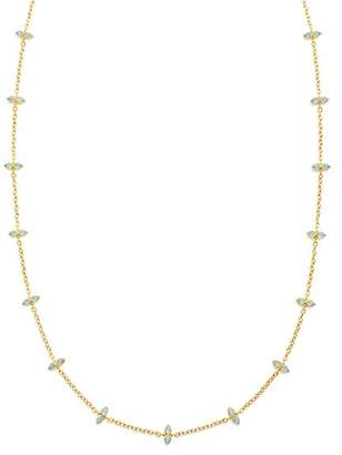 """Temple St. Clair 18K Yellow Gold Dynasty Moon Blue Moonstone Long Chain Necklace, 36"""""""