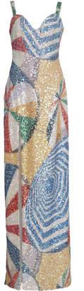 Sandra Mansour Parasol Brilliant Printed Sequin Dress