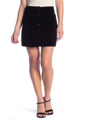 SP Black Button Fly Corduroy Mini Skirt