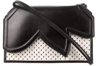 Emporio Armani Ponyhair & Leather Crossbody Bag