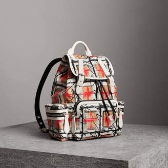 Burberry The Medium Rucksack in Scribble Vintage Check