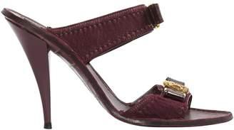 Louis Vuitton Purple Pony-style calfskin Mules & Clogs
