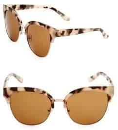 Fantas-Eyes 58MM Clubmaster Sunglasses