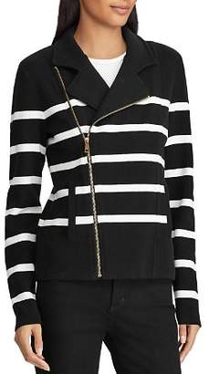 Ralph Lauren Striped Knit Moto Jacket