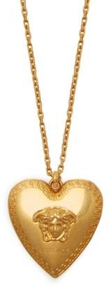 Versace Medusa Heart Pendant Necklace - Womens - Gold