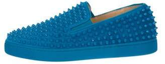 Christian Louboutin Roller Boat Spike Suede Sneakers