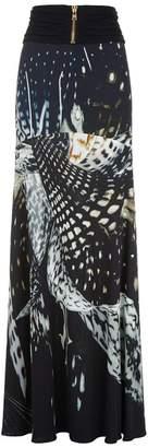 Roberto Cavalli Shells Print Maxi Skirt