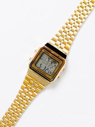 Casio Unisex A500WGA-9 Digital World Watch in Gold