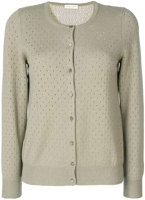 Le Tricot Perugia punch hole knit cardigan