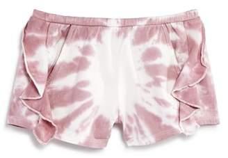Chaser Girls' Ruffled Tie-Dye Cotton Shorts - Little Kid, Big Kid
